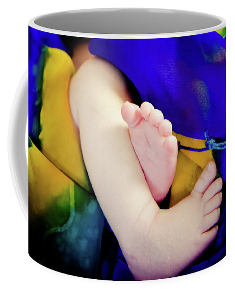 Baby Coffee Mug featuring the photograph Sweet Little Baby Feet by Sherri Johnson