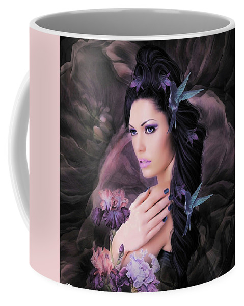 Hummingbirds Coffee Mug featuring the mixed media Sweet Nectar by G Berry