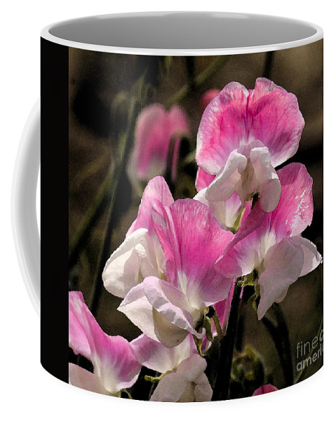 Pink Coffee Mug featuring the photograph Sweet Peas 1 by Jim And Emily Bush