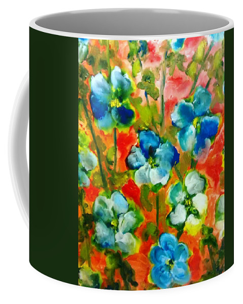 Sweet Peas Coffee Mug featuring the painting Sweet Peas From Japan by Patricia Taylor