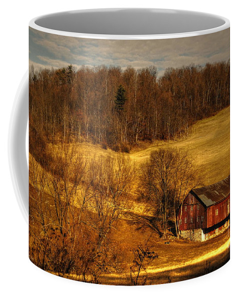 Barn Coffee Mug featuring the photograph Sweet Sweet Surrender by Lois Bryan