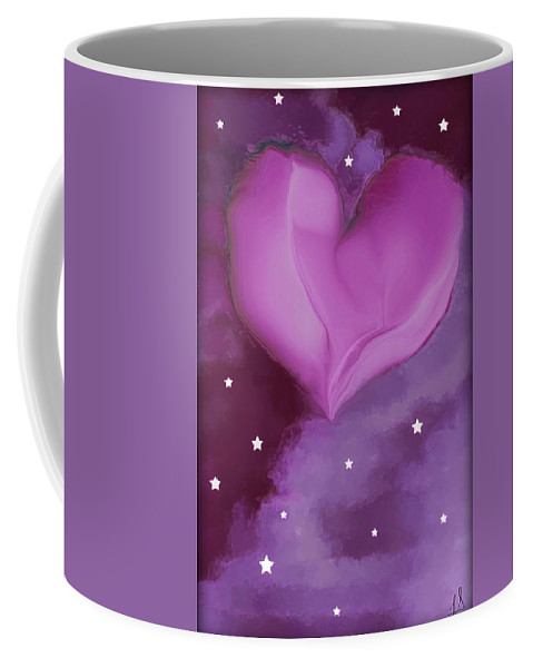 Hearts Coffee Mug featuring the digital art Sweetheart by Linda Sannuti