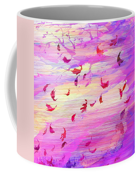 Abstract Coffee Mug featuring the digital art Swept Away by Rachel Christine Nowicki