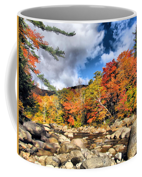 Swift River Coffee Mug featuring the photograph Swift River New Hampshire by Elizabeth Dow