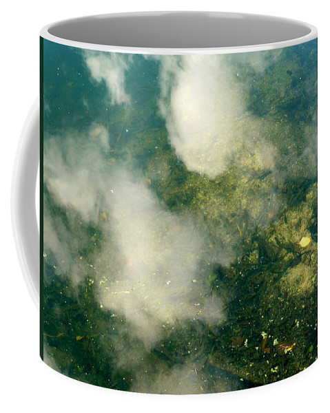 New York Coffee Mug featuring the photograph Swimming Clouds by Anna Duyunova