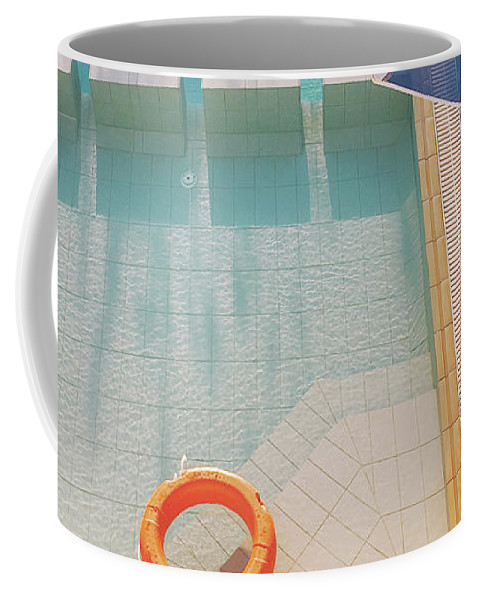 Water Coffee Mug featuring the photograph Swimming Pool by Cassia Beck