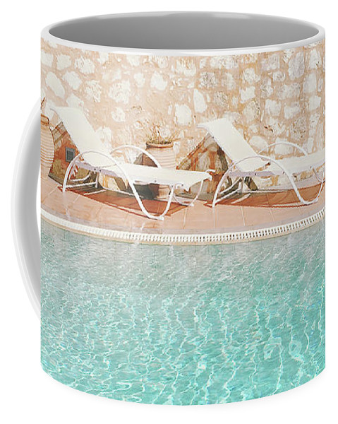 Water Coffee Mug featuring the photograph Swimming Pool V by Cassia Beck
