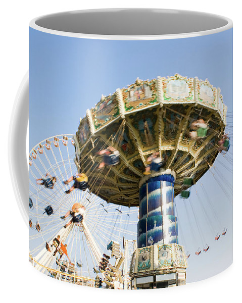 Fun Coffee Mug featuring the photograph Swing Ride by Anthony Totah
