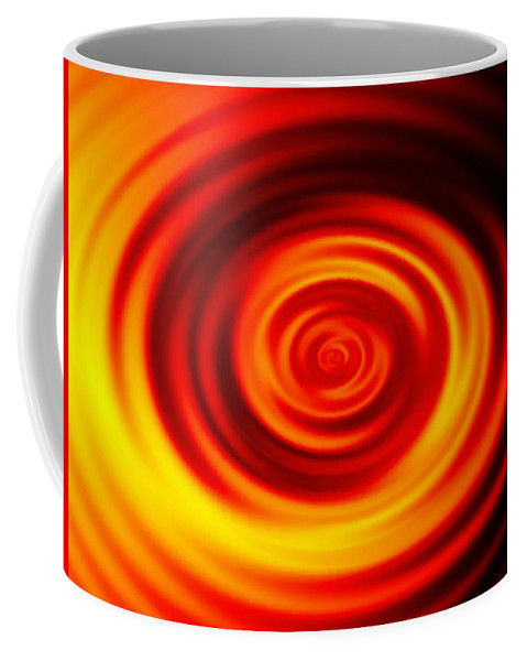 Swirled Coffee Mug featuring the digital art Swirled Sunrise by Rhonda Barrett