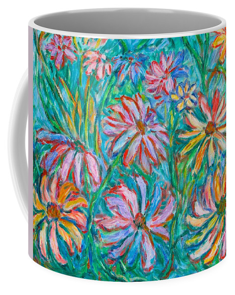 Impressionist Coffee Mug featuring the painting Swirling Color by Kendall Kessler