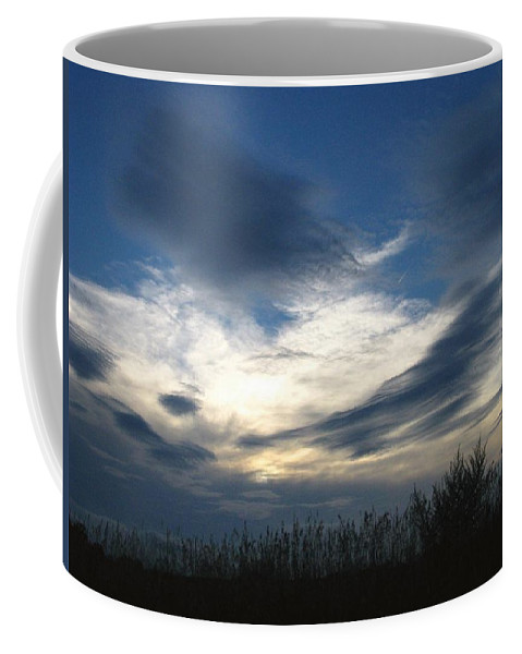 Sky Coffee Mug featuring the photograph Swirling Skies by Rhonda Barrett