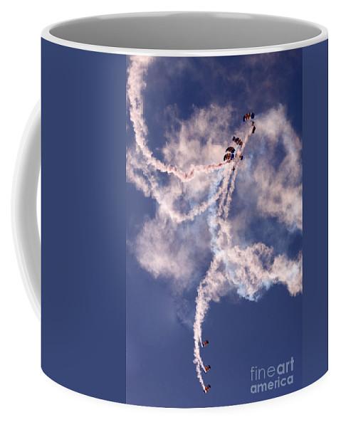 Raf Falcons Coffee Mug featuring the photograph Swirls by Angel Ciesniarska