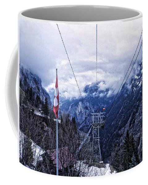 Switzerland Coffee Mug featuring the photograph Swiss Funicular by Stephen Settles