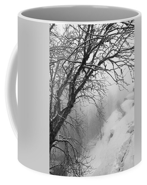 Switzerland Coffee Mug featuring the photograph Swiss Snow Fall by Stephen Settles