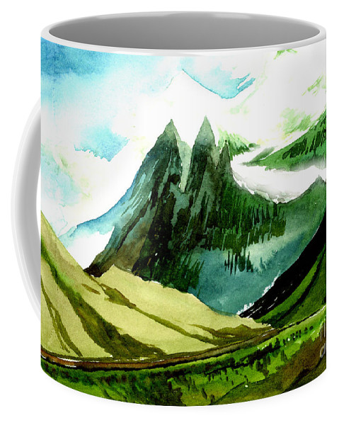 Landscape Coffee Mug featuring the painting Switzerland by Anil Nene