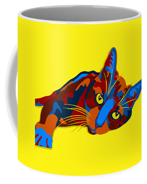 Cat Coffee Mug featuring the digital art Sylvia by John Berndt