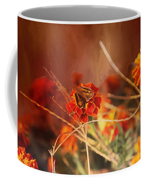 Moth Coffee Mug featuring the photograph Symbiosis by Theresa Campbell