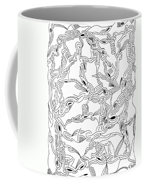 Mazes Coffee Mug featuring the drawing Synapses by Steven Natanson