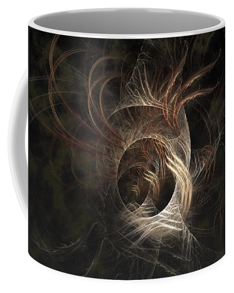 Abstract Coffee Mug featuring the digital art Synaptic by Casey Kotas
