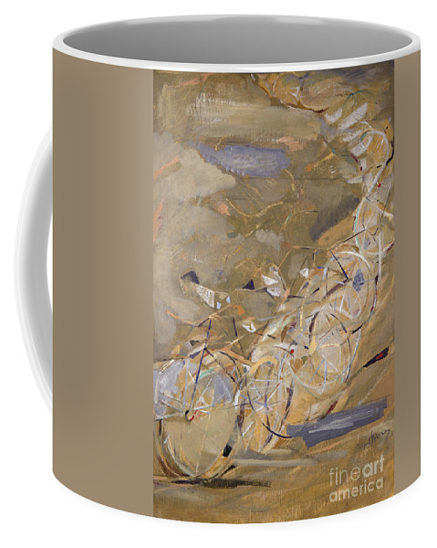 1954 Coffee Mug featuring the photograph Szenes: Bicycle Racers by Granger