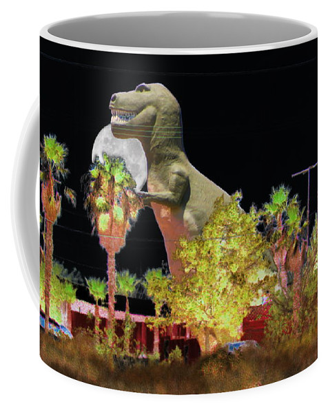 """T-rex In The Desert Night"" Fine Art on Coffee Mug"