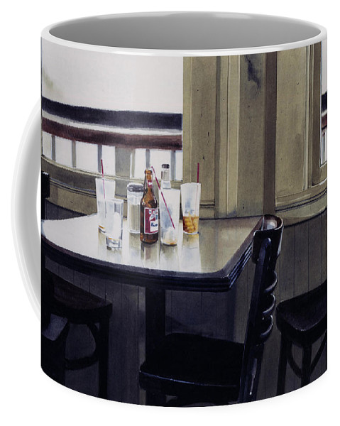 Beer Coffee Mug featuring the painting Table Setting by Denny Bond