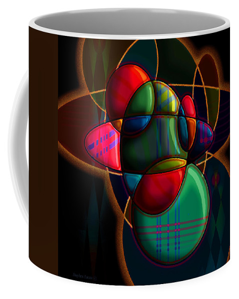 Modern Coffee Mug featuring the digital art Tactile Space I by Stephen Lucas