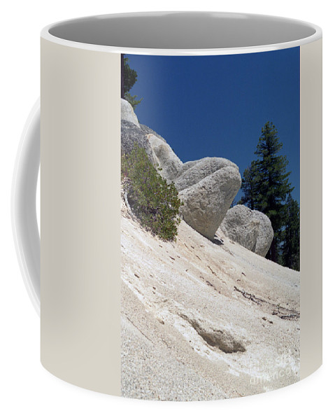 Abstract Coffee Mug featuring the photograph Tahoe Rocks by Richard Rizzo