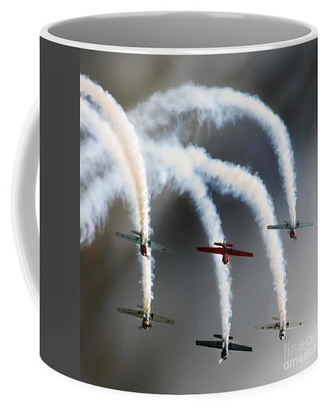 Aerostars Yak-50 Display Team Coffee Mug featuring the photograph Take A Bow by Angel Ciesniarska