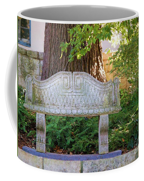 Bench Coffee Mug featuring the photograph Take A Break by Debbi Granruth