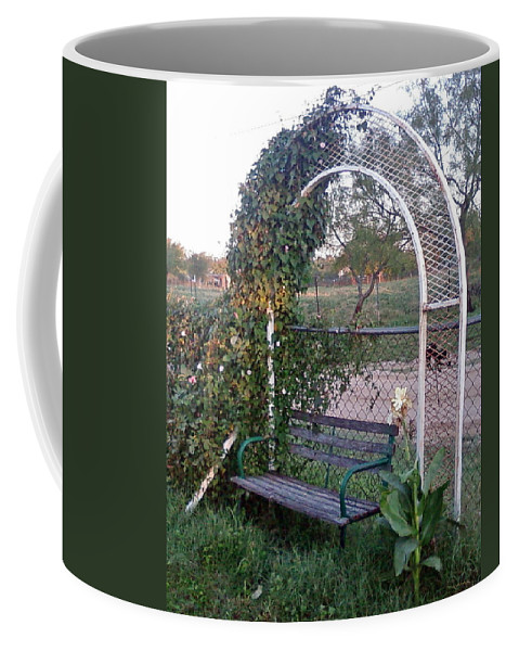 Seat Arch Coffee Mug featuring the photograph Take A Seat by Cindy New
