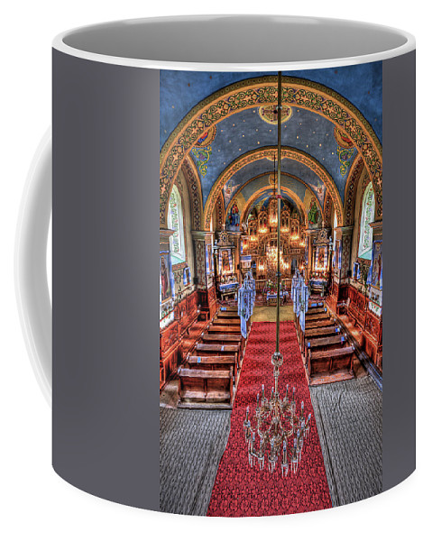 Church Coffee Mug featuring the photograph Take A Seat by Evelina Kremsdorf