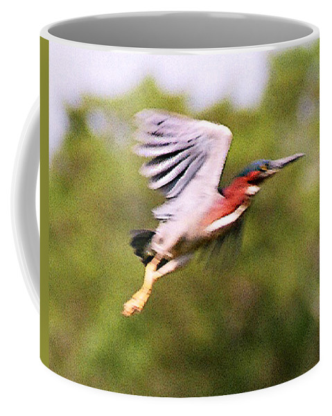 Wild Life Coffee Mug featuring the digital art Take Off by Steve Karol