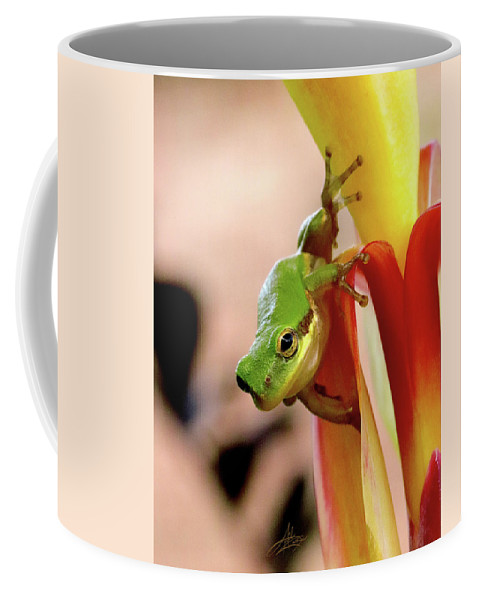 Frog Coffee Mug featuring the photograph Take That Leap by April Zaidi