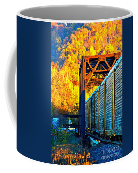 Train Coffee Mug featuring the photograph Take The Long Way Home by Ty Shults