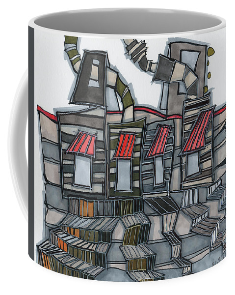 Sandy Church Coffee Mug featuring the drawing Take The Stairs by Sandra Church