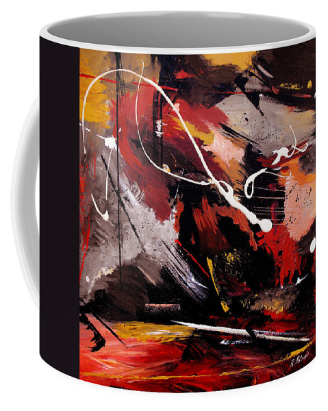 Abstract Coffee Mug featuring the painting Take To Heart by Ruth Palmer