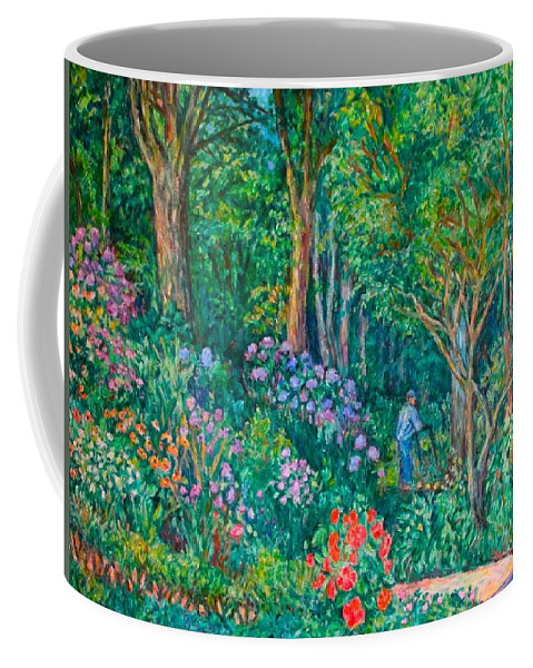 Suburban Paintings Coffee Mug featuring the painting Taking A Break by Kendall Kessler