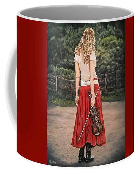 Painting Coffee Mug featuring the painting Taking A Break by Sheryl Gallant