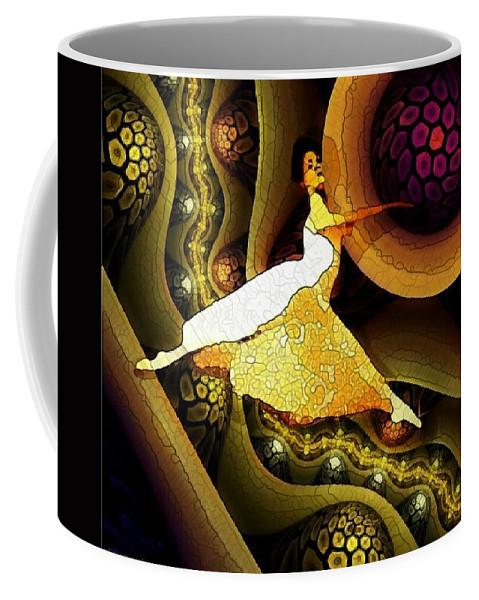 Dancer Coffee Mug featuring the digital art Taking Flight by Ellen Cannon