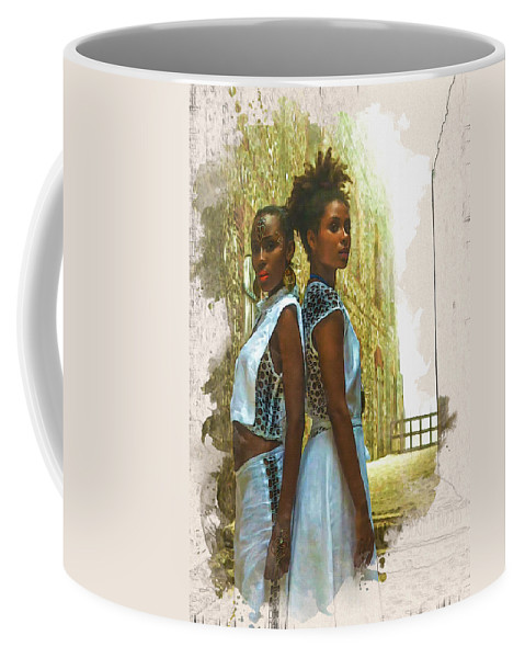 Home Art Coffee Mug featuring the digital art Tale Of Two Sister by Don Kuing
