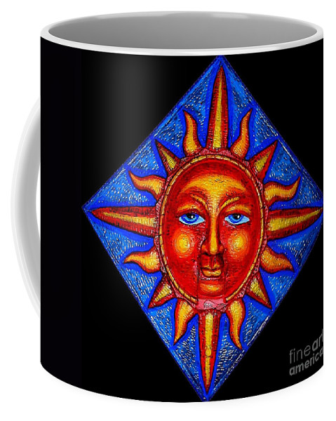Sun Coffee Mug featuring the painting Talking Sun by Genevieve Esson