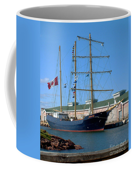 Dock Coffee Mug featuring the photograph Tall Ship Waiting by RC DeWinter