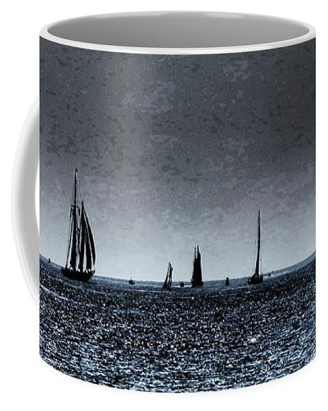 Ships Coffee Mug featuring the photograph Tall Ships Halifax 2017 - Parade Of Sail by Celtic Artist Angela Dawn MacKay