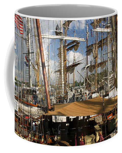 Color Coffee Mug featuring the photograph Tall Ships Heritage Landing by Frederic A Reinecke