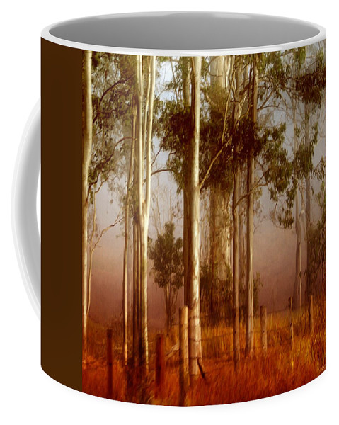 Landscape Coffee Mug featuring the photograph Tall Timbers by Holly Kempe
