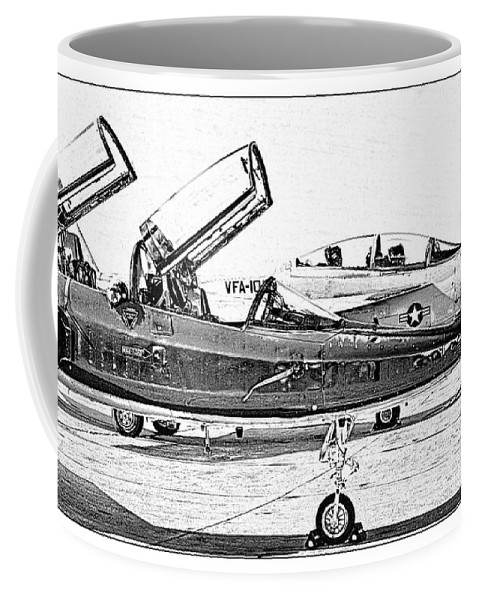 T38 Coffee Mug featuring the photograph Talon Vs. Hornet by Ricky Barnard
