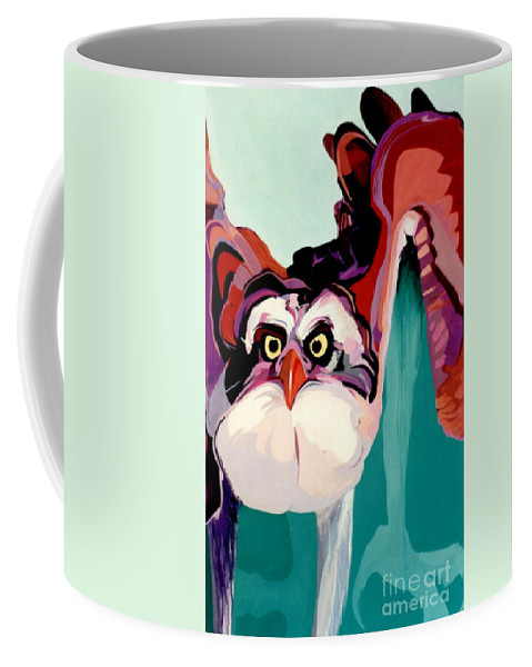 Raptor Coffee Mug featuring the painting Talons Down by Marlene Burns