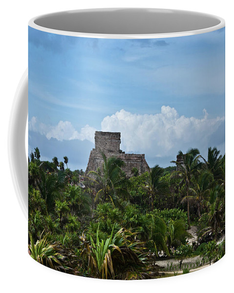 Tulum Ruins Coffee Mug featuring the photograph Talum Ruins 2 by Douglas Barnett