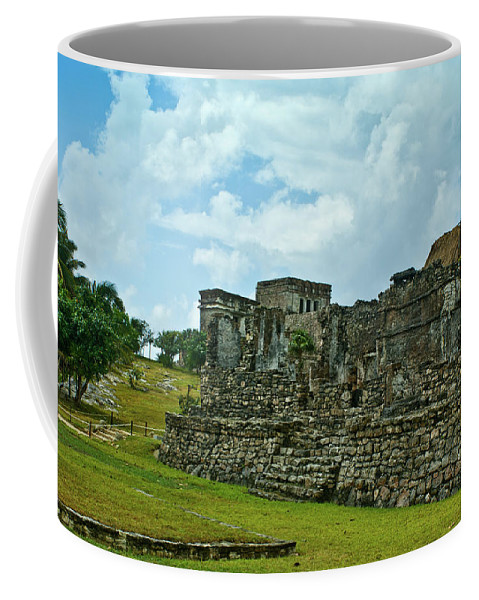 Tulum Ruins Coffee Mug featuring the photograph Talum Ruins 4 by Douglas Barnett